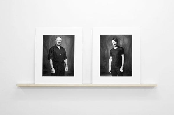 Churchill and Hitler - Archival inktjet, wood - 80 x 175 x 10 cm